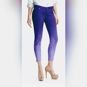 """Ombre """"Kiss Me"""" Zip Ankle Twill Skinny Jeans"""